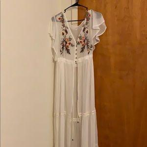 Beautiful Xhilaration sheer white dress! XXL!